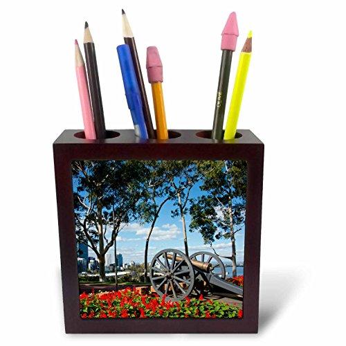 Danita Delimont - Weapons - Australia, Perth. Kings Park. Fraser Avenue, Lemon-scented gum tree - 5 inch tile pen holder (ph_226197_1)