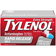 Tylenol Extra Strength Rapid Release Gels with Acetaminophen, Pain Reliever & Fever Reducer, 100 ct