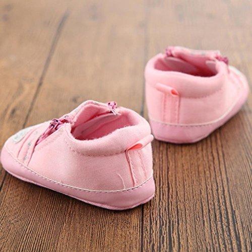Tefamore Zapatos bebe de bajos de deporte de antideslizante de solo suave de moda invierno de calentar Zapatillas Casual Rosa