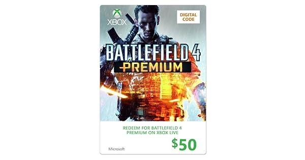 Amazon.com: Xbox $50 Gift Card (Battlefield 4 Premium)- Xbox ...