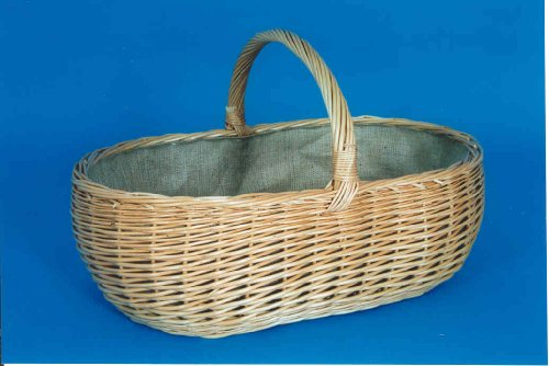 Holzkorb gekochte Weide Leinen
