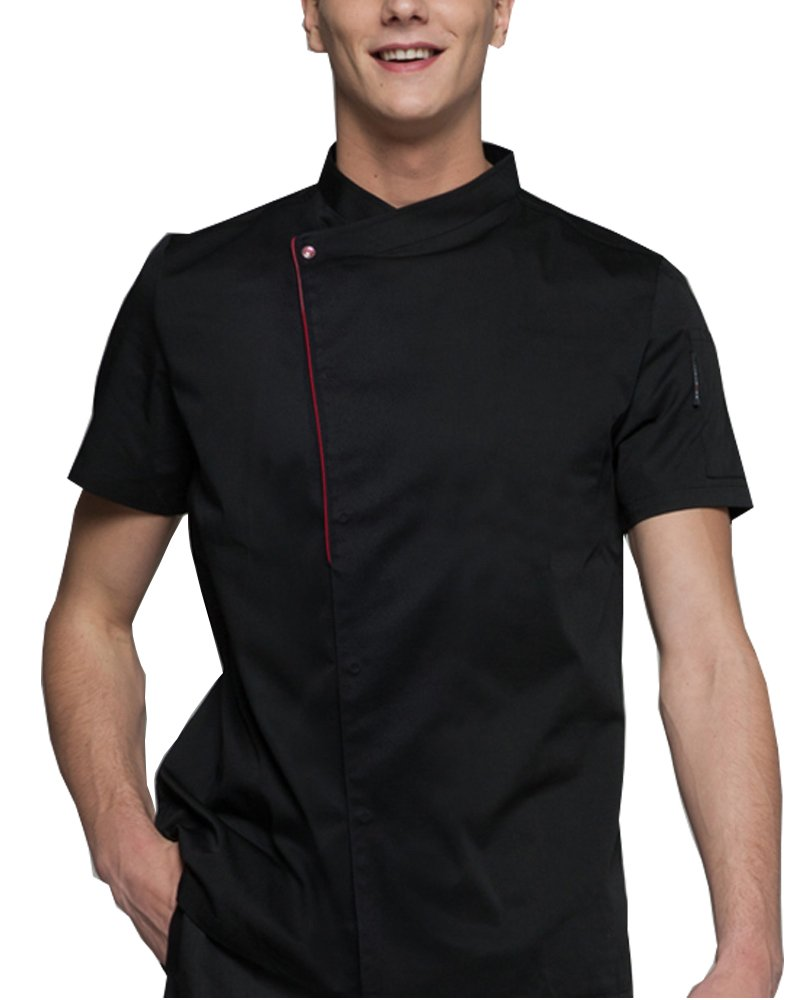 Boupiun Summer Short Sleeve Chef Coat Fashion Cool Unisex Chef Jackets Breathable Comfortable