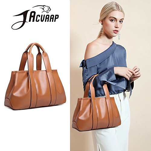 messenger bag bag leather burst vintage bag American fashion 2018 method kinds European large model ladies' women's Ms shoulder and PU JVPS15 back dumpling bags handbag three capacity R Brown RpqYHH