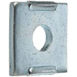 "VERSABAR VF-1101-N-1/2 NOTCHED SQUARE WASHER 1/2"" CLEARANCE ZINC PLATED 25/BOX"