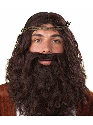Jesus Halloween Costumes (Jesus Thorn Crown Costume Accessory, Brown, One Size)