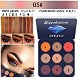 KCPer 9 Colors Eyeshadow Matte Shimmer Glitter Eye Highlight Palette & Cosmetic Brush Makeup Set Cream Makeup Palette