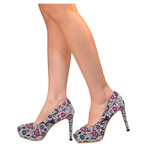 D-story Moda Donna Sexy Stiletto Scarpe Col Tacco Alto Multicolore11