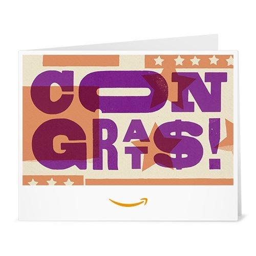 - Amazon Gift Card - Print - Congrats (Letterpress)