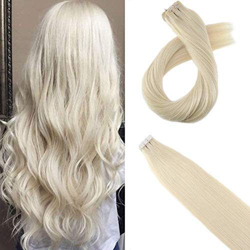 Moresoo 18 Inch Tape in Hair Extensions Human Hair...