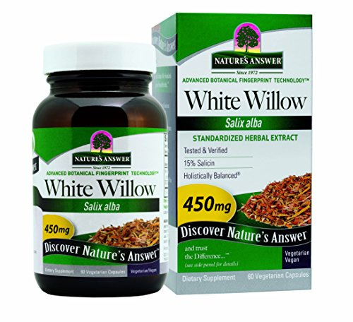 Nature's Answer White Willow Bark Vegetarian Capsules, 60-Count