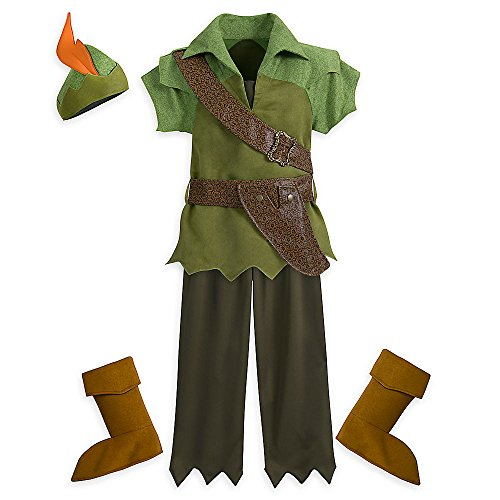 Peter Pan Movie Costumes (Disney Peter Pan Costume for Kids Size 4 Green 428443668050)