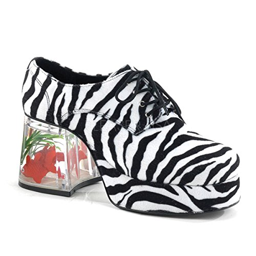 Funtasma by Pleaser Men's Halloween Pimp-02,Zebra,M (US Men's 10-11 M) -