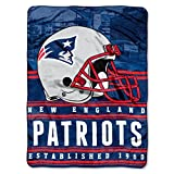 """Officially Licensed NFL New England Patriots Stacked Silk Touch Throw Blanket, 60"""" x"""