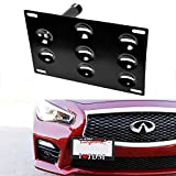 tow hook adapter - iJDMTOY JDM Style Front Bumper Tow Hole Adapter License Plate Mounting Bracket For 2008-2015 Infiniti G35 G37 Q60, 2014-up Infiniti Q50, 2007-2018 Nissan GT-R & 2009-2018 Nissan 370Z