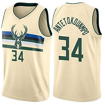 WOLFIRE SC Camiseta de Baloncesto para Hombre, NBA, Milwaukee ...