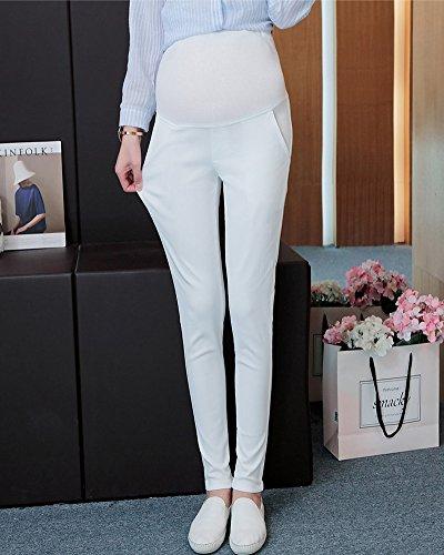 il Leggings ShallGood Vita Donne Donna Supporto Incinte e con Premaman Bianco Coprono Alta di Pancione per Addome Confortevoli Completo Proteggono 77fqSw