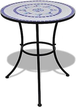 Tidyard Tisch Mosaiktisch Gartentisch Bistrotisch Balkontisch Mit