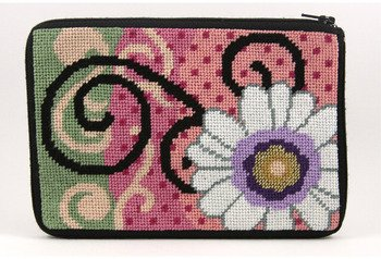- Cosmetic Purse - Daisy Swirl - Needlepoint Kit