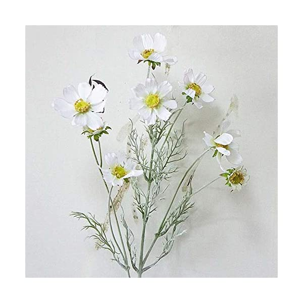 Artificial Dried Flowers – Artificial Cosmos Flowers Silk Real Touch Fake Wedding Bride Hand Floral Bouquet Garden Decoration – Artificial Flowers Dried