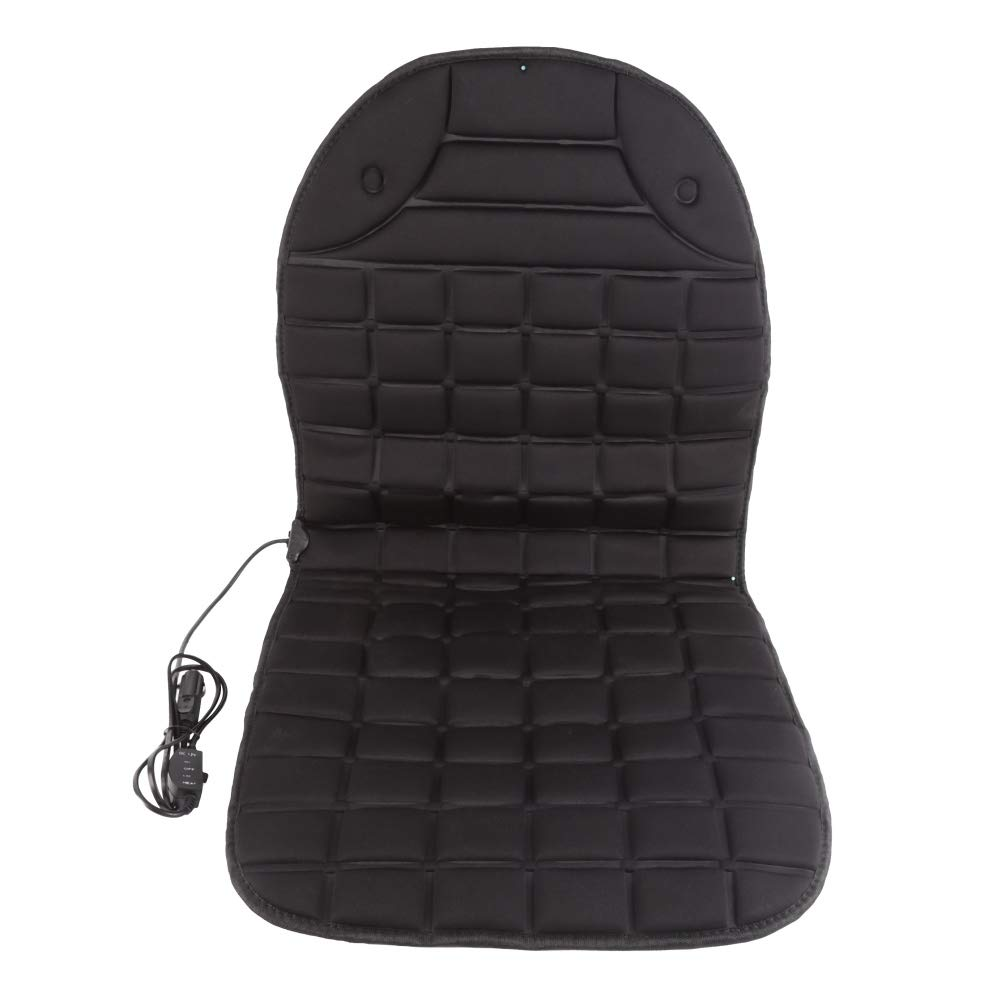 Autotipps Car Chauffage en Tissu Polyester antidé rapant pour Voiture ou Chaise Noir