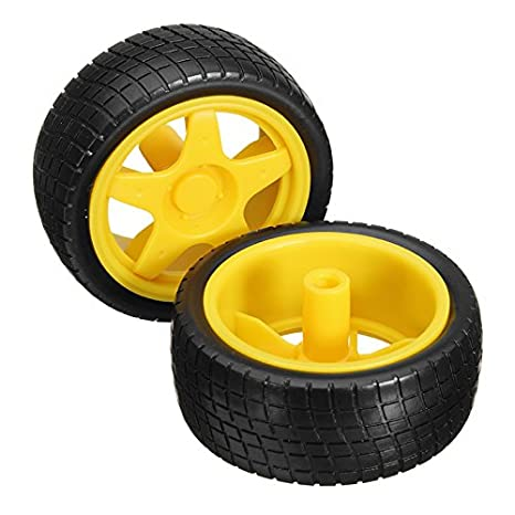 LaDicha 2 Piezas Smart Robot Coche Neumáticos Ruedas Para Arduino Tt Gear Motor Chasis: Amazon.es: Hogar