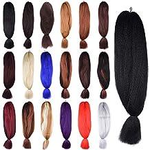 Aigemei Jumbo Braiding Hair African Collection Braids Crochet Bulk Braiding Hair Jumbo Braids Crochet Hair Extension(1B#,48inch ,57g)
