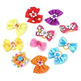 Cute and colorful bow, pets, dogs, cats, hair, butterflies, rubber bands.