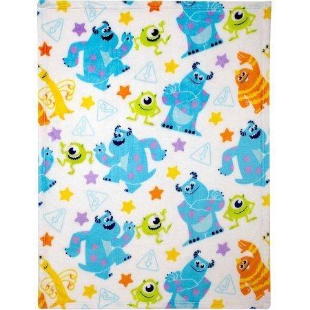 (Disney Monsters Plush Printed Blanket)