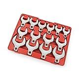 TEKTON 2585 1/2-Inch Drive Jumbo Crowfoot Wrench Set, Inch, 1-1/16-Inch - 2-Inch, 14-Piece