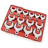 TEKTON 2585 1/2-Inch Drive Jumbo Crowfoot Wrench Set, SAE, 14-Piece