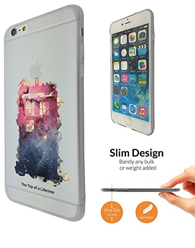"""C0739 - Out Of This World Universe Doctor Who Police Box Tardis Pink And Blue Design iphone 6 6S 4.7"""" Fashion Trend Leichtgewicht Hülle Ultra Slim 0.3MM Kunststoff Kanten und Rückseite Protection Hüll"""