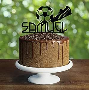 Decoración para tarta de fútbol personalizable para fiesta ...
