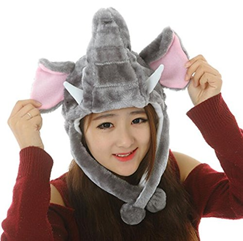 Goodscene Party decoration accessories Cute Cartoon Performance Headwear Plush Animal Headgear (Elephant) by Goodscene