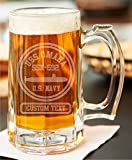 USS OMAHA SSN-692 CUSTOM ETCHED BEER STEIN