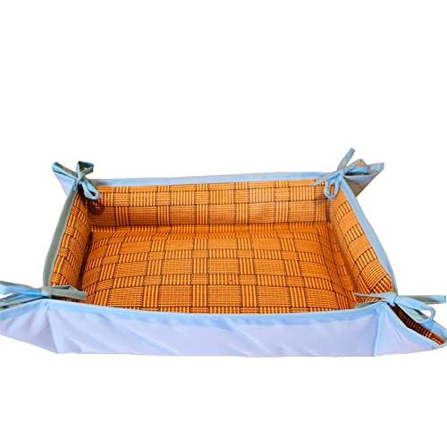 Dog Bed Mat Cooling Multifunctional Comfortable Pad Both Sides Pet Pad Kennels Nest Usable All Seasons for Puppy Cats(Orange)