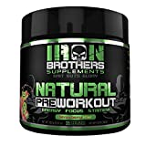 Natural Pre Workout -Energy Powder -Fat Burner - Nitric Oxide Supplement for Men & Women - Creatine Free - 25 Servings - Beta Alanine - Naturally Sweetened - Fruit Flavor Drink to Boost Focus & Muscle