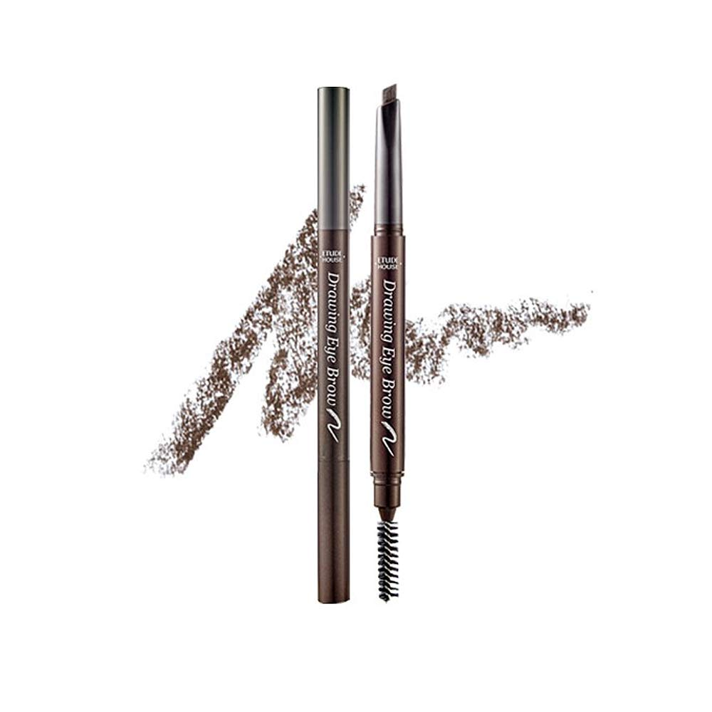 ETUDE HOUSE Drawing Eye Brow #2 Grey Brown | Long Lasting Eyebrow Pencil for Soft Textured Natural Daily Look Eyebrow Makeup