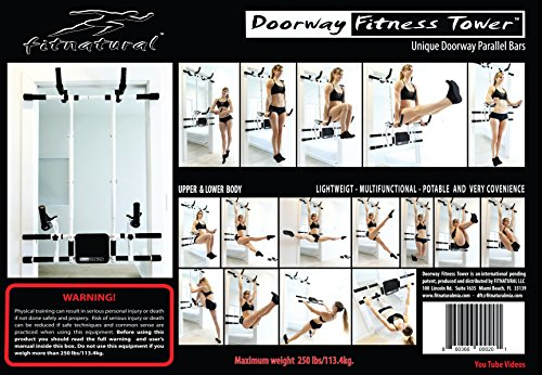 Doorway Fitness Tower Pull Up Bars/Adjustable Portable Multi-Functional Chin Up Bar - Pull Up Station Portable