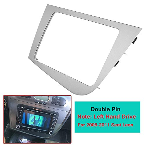 Daphot-Store - 2 DIN Car Stereo Radio GPS Navigation Plate Panel Frame Fascias Replacement for Seat Leon 2005-2011 Left Hand Driving LHD