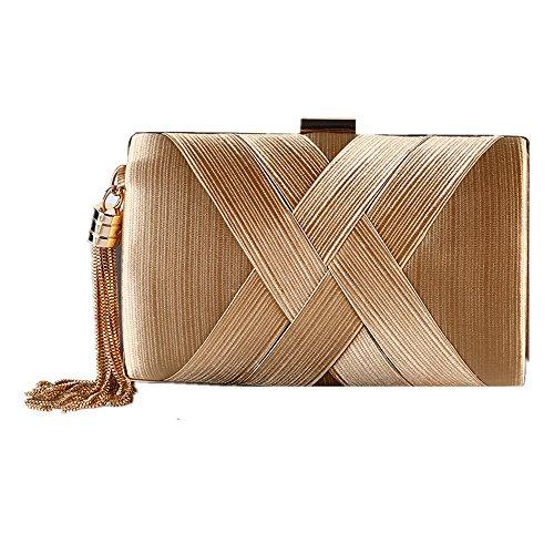 rabbit Color Lovely Sac Emballage Gold Apricot Satin Nuptiale Femme Handbag Tassel Sac Colour Suspension Sac Prom Bandoulière 4qdqxS