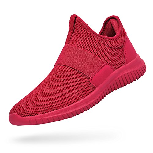 Troadlop Red Shoes for Women Lightweight Breathable Mesh Slip On Casual Tennis Shoes Sport Causal Sneakers Red Size 6.5 B(M) US ()