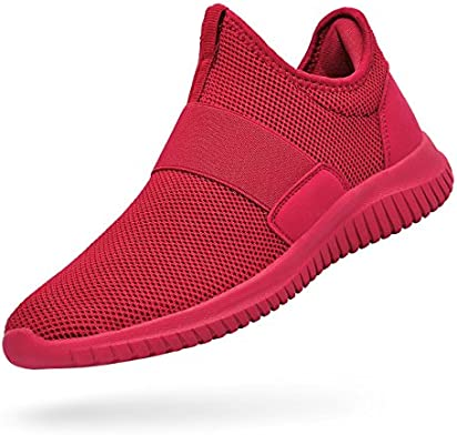 Troadlop Red Shoes for Women Lightweight Breathable Mesh Slip On Casual Tennis Shoes Sport Causal Sneakers Red Size 6.5 B(M) US