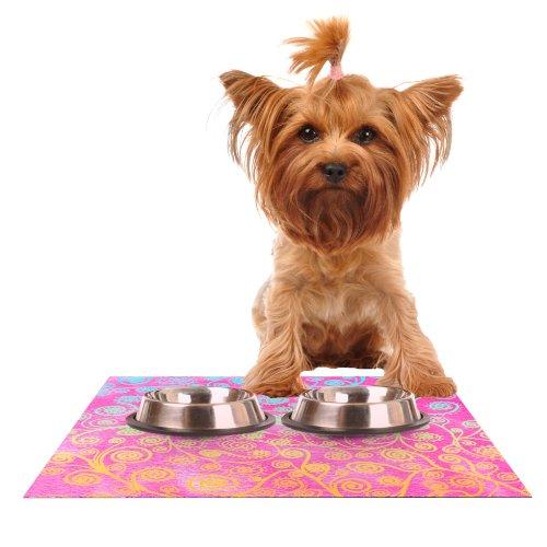 Kess InHouse Monika Strigel Get Lucky Feeding Mat for Pet Bowl, 18 by 13-Inch