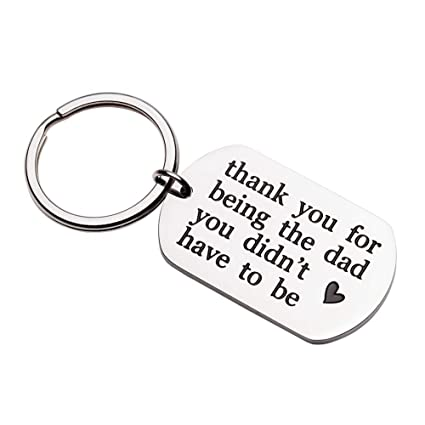 Fathers Day Gifts Step Dad Keychain For Stepfather Father In Law Birthday Wedding Gift