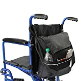 Wheelchair Bag By Vive - Essential Wheelchair Accessory Compatible with Rolling Walkers & Transport Chairs - Hands Free Storage for Disability Equipment - Vive Guarantee