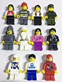10 Pieces Compatible Fits LEGO and Other Minifigures Men Women People City Building Bricks Blocks Mini Figures Minifigs Minifigures Set Pack Collection Early Learning Development Toys
