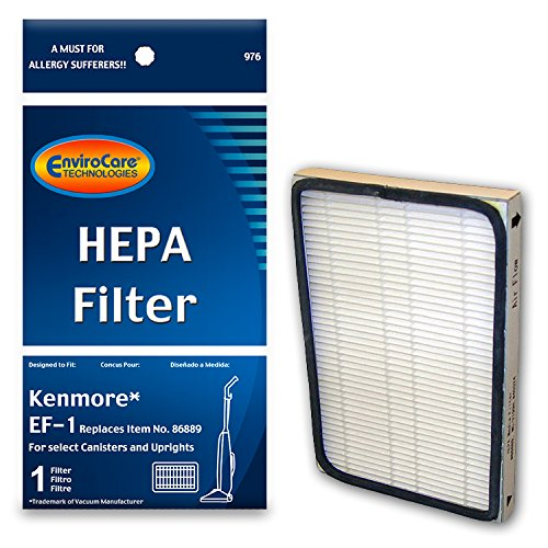 - EnviroCare Replacement HEPA Vacuum Filter for Kenmore EF-1 for Select Canisters and Uprights