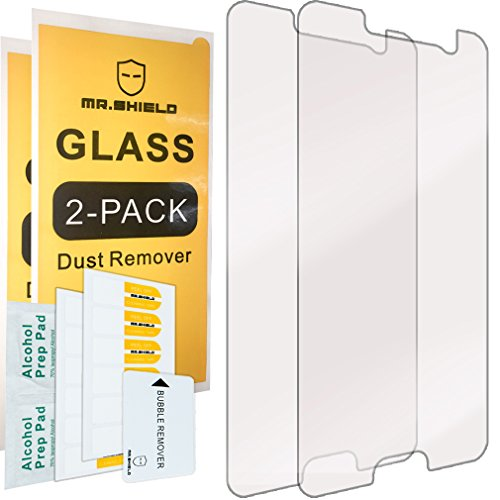 [2-Pack]-Mr.Shield for HTC 10 / HTC One M10 [Tempered Glass] Screen Protector [0.3mm Ultra Thin 9H Hardness 2.5D Round Edge] with Lifetime Replacement (Best Tempered Glass Screen Protector For Htc 10)