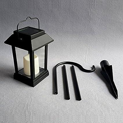 LEDMOMO - Farol solar LED impermeable para exteriores, lámpara de ...