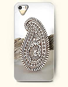 OOFIT Apple iPhone 5 5S Case Paisley Pattern (a Tan Wooden Paisley decoration)